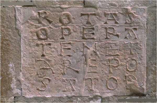 Capestrano (AQ, chiesa medievale di San Pietro ad Oratorium, il Quadrato Magico